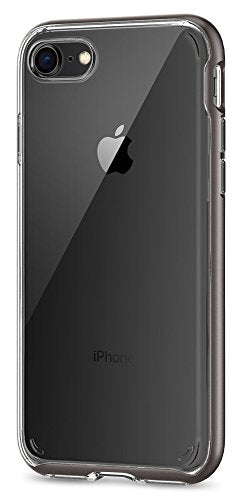 Spigen Neo Hybrid Crystal [2nd Generation] iPhone 8 Case / iPhone 7 Case with Clear Hard Casing and Reinforced Hard Bumper Frame for Apple iPhone 8 (2017) / iPhone 7 (2016) - Gunmetal