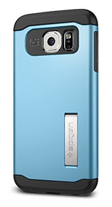 Spigen Slim Armor Galaxy S6 Case with Air Cushion Technology and Kickstand for Galaxy S6 2015 - Blue Topaz