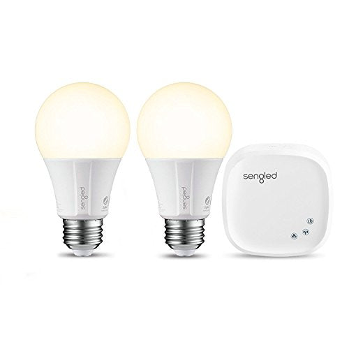 Element Classic by Sengled - Starter Kit (2 A19 bulbs + hub) - Soft White 2700K Smart LED, Works with Alexa & Google Assistant
