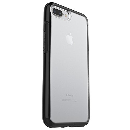 huge discount 92413 1f280 OtterBox SYMMETRY CLEAR SERIES Case for iPhone 8 Plus & iPhone 7 Plus  (ONLY) - Frustration Packaging - BLACK CRYSTAL (CLEAR/BLACK)