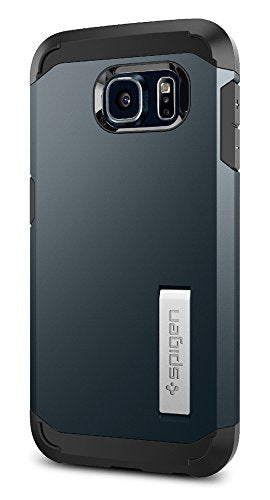 Spigen Tough Armor Galaxy S6 Case with Kickstand and Air Cushion Techonology for Galaxy S6 2015 - Metal Slate