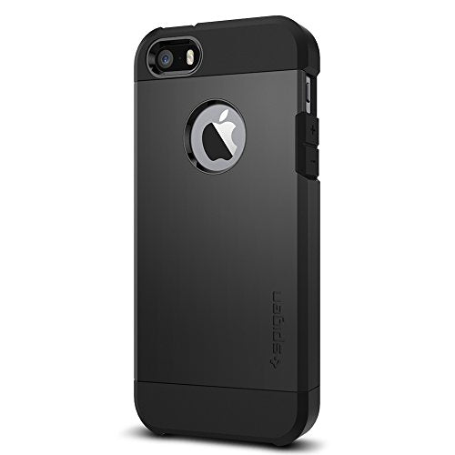 Spigen Tough Armor iPhone 5S / 5 Case with Extreme Heavy Duty Protection and Air Cushion Technology for iPhone 5S / iPhone 5 - SF Smooth Black