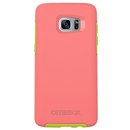 OtterBox Symmetry Series Case for Samsung Galaxy S7 Edge,  Melon Candy (Candy Pink/Citron Green) - Standard Packaging
