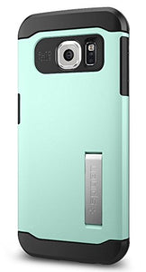 Spigen Slim Armor Galaxy S6 Edge Case with Kickstand and Air Cushion Technology and Hybrid Drop Protection for Galaxy S6 Edge 2015 - Mint