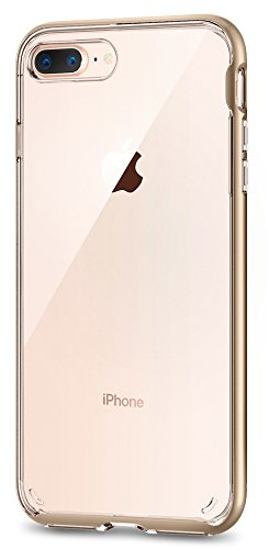 Spigen Neo Hybrid Crystal [2nd Generation] iPhone 8 Plus Case / iPhone 7 Plus Case with Clear Casing and Hard Bumper Frame for Apple iPhone 8 Plus (2017) / Apple iPhone 7 Plus (2016) - Champagne Gold