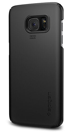 Spigen Thin Fit Galaxy S7 Edge Case with SF Coated Non Slip Matte Surface for Excellent Grip for Samsung Galaxy S7 Edge 2016 - Black