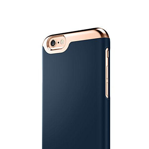 more photos 68ef5 f6dc6 iPhone 6 Case, Caseology [Savoy Series] Slim Premium Luxury Protective  Two-Piece Removable Chrome Slider [Navy Blue] for Apple iPhone 6 / iPhone 6S