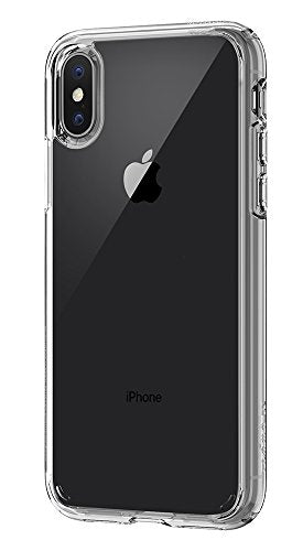 Spigen Ultra Hybrid iPhone X Case with Air Cushion Technology and Hybrid Drop Protection for Apple iPhone X (2017) - Crystal Clear