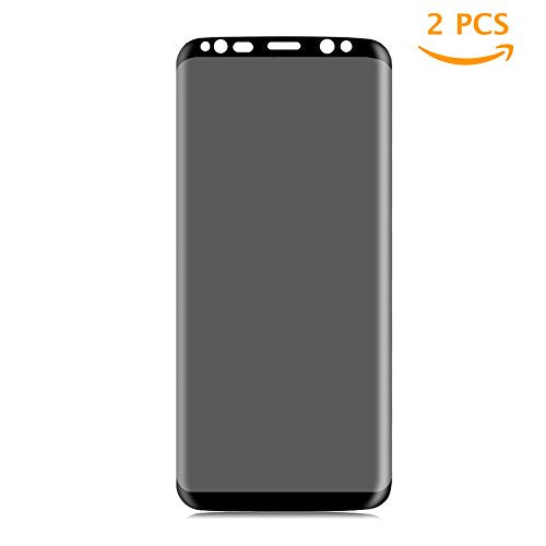 [2 Pack] Galaxy S8 Privacy Screen Protector, Tiamat Tempered Glass Anti-Spy Privacy Film for Samsung Galaxy S8 (Black Without Edge)