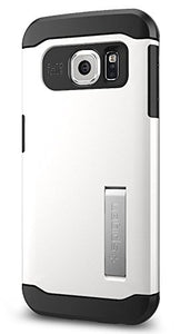 Spigen Slim Armor Galaxy S6 Edge Case with Kickstand and Air Cushion Technology and Hybrid Drop Protection for Galaxy S6 Edge 2015 - Shimmery White
