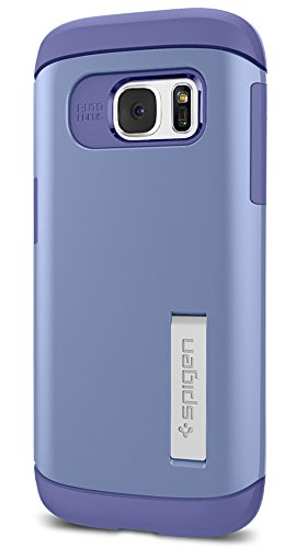 Spigen Slim Armor Galaxy S7 Case with Kickstand and Air Cushion Technology and Hybrid Drop Protection for Samsung Galaxy S7 2016 - Violet