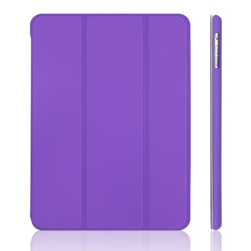 iPad Air Case, JETech Case Cover for Apple iPad Air 2013 Model with Auto Sleep / Wake Feature (Purple) - 0467