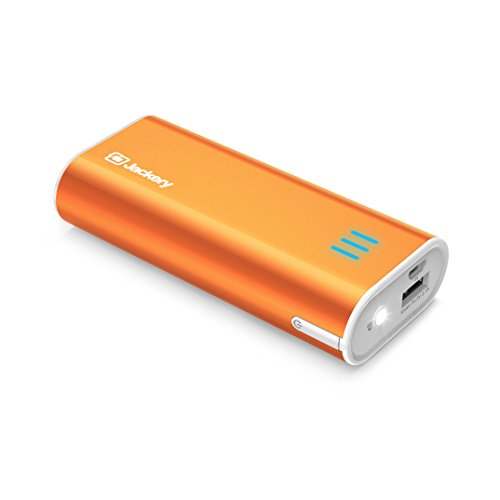 Portable Travel Charger for iPhone X, iPhone 8 / 8 Plus, Jackery Bar Pocket-sized 6000mAh Ultra Compact External Battery Power Bank Superior Charging Speed for Samsung and Other Smartphones, Orange