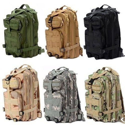 2017 New 1000D Nylon 8 Colors 30L Waterproof Outdoor Military Rucksacks Tactical Backpack Sports Camping Hiking Trekking Fishing