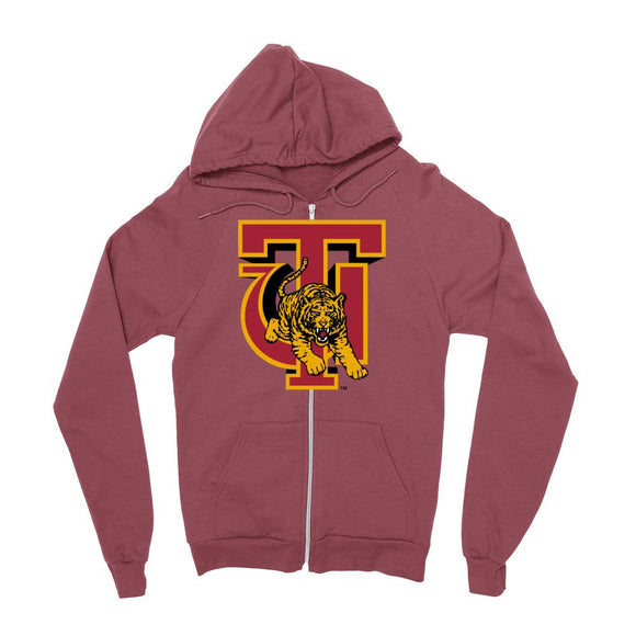 Official NCAA Tuskegee University Golden Tigers - RYLTUS06 Mens / womens Boyfriend Zip Hoodie