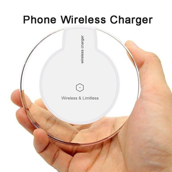 2018 Newest Ultra-thin QI Wireless Charge Phone Wireless Charger Charging Pad for IPhoneX/8/8Plus/for Galaxy S9/S8/S6/S7 Edge/S