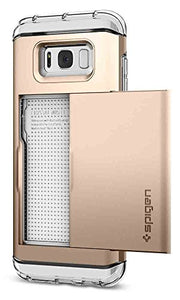 Spigen Crystal Wallet Galaxy S8 Plus Case with Slim Dual Layer Wallet Design and Card Slot Holder for Galaxy S8 Plus (2017) - Maple Gold