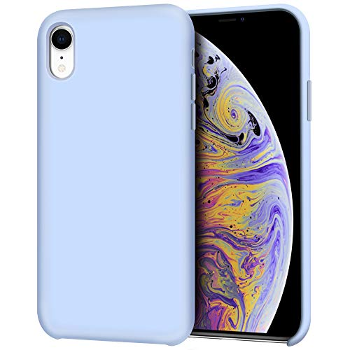 iPhone XR Case, Anuck Anti-Slip Liquid Silicone Gel Rubber Bumper Case with Soft Microfiber Lining Cushion Slim Hard Shell Shockproof Protective Case Cover for Apple iPhone XR 6.1