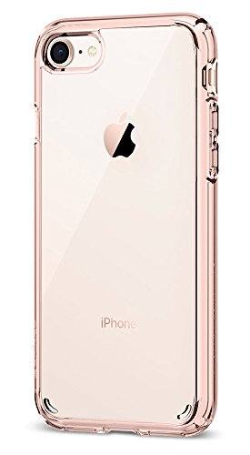 Spigen Ultra Hybrid [2nd Generation] iPhone 7 Case / iPhone 8 Case with Air Cushion Technology for Apple iPhone 7 (2016) / iPhone 8 (2017) - Rose Crystal