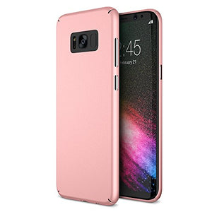 Maxboost mSnap Galaxy s8 Case [Perfect Fit] [Rose Gold] EXTREME Smooth Surface with Anti-Slip Matte Coating for Excellent Grip Thin Hard Protective PC Covers for Samsung Galaxy s8 2017