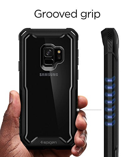 pretty nice a09c3 f19f2 Spigen Hybrid 360 Galaxy S9 Case with 360 Full Body Coverage Protection  with Tempered Glass Screen Protector for Samsung Galaxy S9 (2018) - Black