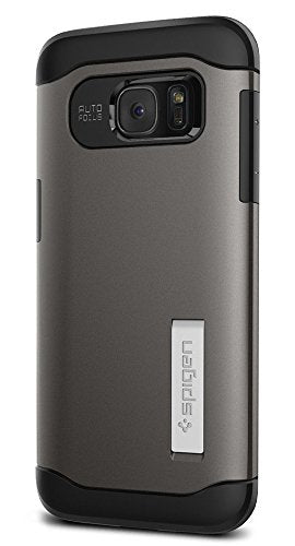 Spigen Slim Armor Galaxy S7 Edge Case with Kickstand and Air Cushion Technology and Hybrid Drop Protection for Samsung Galaxy S7 Edge 2016 - Gunmetal