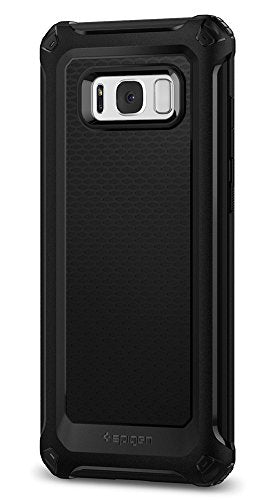 Spigen Rugged Armor Extra Galaxy S8 Case with Resilient Shock Absorption and Carbon Fiber Design for Samsung Galaxy S8 (2017) - Black