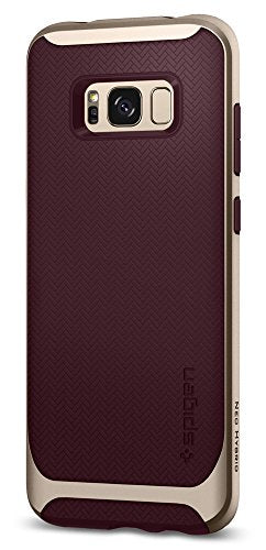 Spigen Neo Hybrid Galaxy S8 Case Herringbone with Flexible Inner Protection and Reinforced Hard Bumper Frame for Samsung Galaxy S8 (2017) - Burgundy