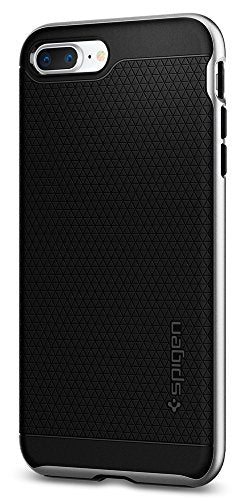 Spigen Neo Hybrid [2nd Generation] iPhone 8 Plus Case / iPhone 7 Plus Case with Hard Frame for Apple iPhone 8 Plus (2017) / Apple iPhone 7 Plus (2016) - Satin Silver
