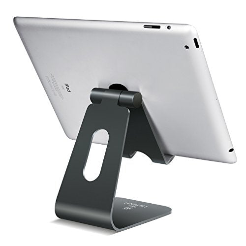 Tablet Stand Multi-Angle, Lamicall iPad Stand : Desktop Holder Dock for iPad mini Air 2 3 4 Pro, iPhone 5 6 7 Plus, Nintendo Switch, Nexus, Accessories, Samsung and Other Tablets (4-13 inch) - Gray