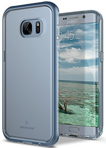 Galaxy S7 Edge Case, Caseology [Skyfall Series] Transparent Clear Slim Protective Scratch Resistant Air Space Technology [Blue Coral] for Samsung Galaxy S7 Edge (2016)