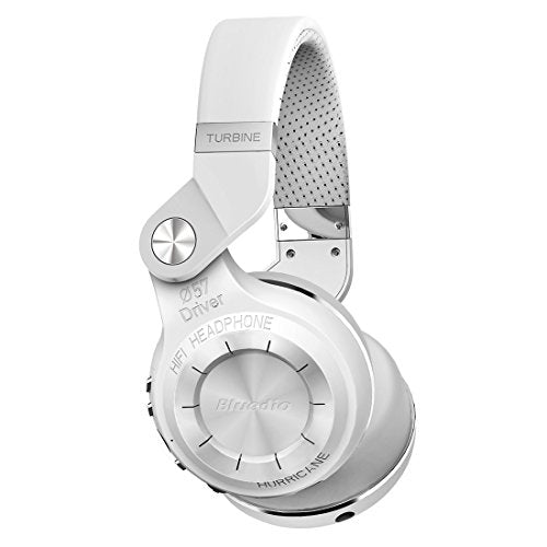 Bluedio T2s Turbine Bluetooth Wireless Stereo Headphones with Microphone 57mm Drivers Rotary Folding(White)