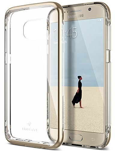 Galaxy S7 Case, Caseology [Skyfall Series] Transparent Clear Slim Protective Scratch Resistant Air Space Technology [Gold] for Samsung Galaxy S7 (2016)