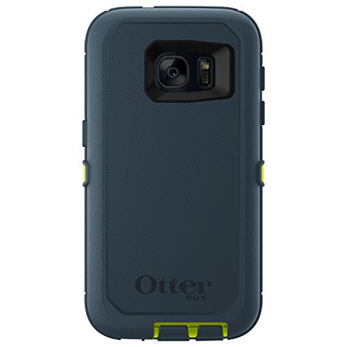 OtterBox DEFENDER SERIES Case for Samsung Galaxy S7 - Retail Packaging - MERIDIAN (CITRON GREEN/TEMPEST BLUE)