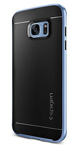 Spigen Neo Hybrid Galaxy S7 Edge Case with Flexible Inner Protection and Reinforced Hard Bumper Frame for Galaxy S7 Edge - Blue Coral