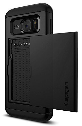Spigen Slim Armor CS Galaxy S7 Edge Case with Slim Dual Layer Wallet Design and Card Slot Holder for Galaxy S7 Edge - Black