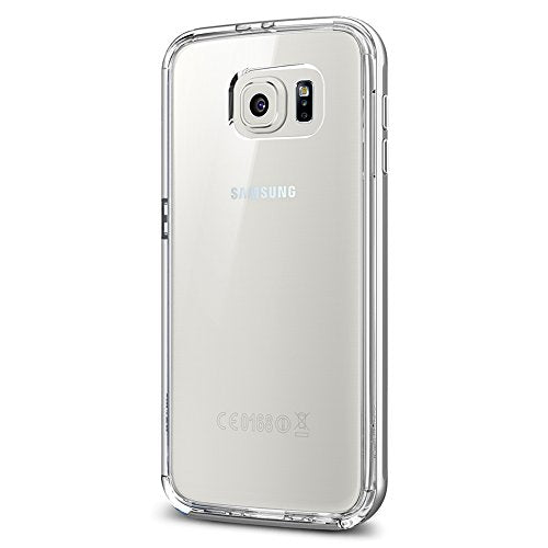 Spigen Neo Hybrid CC Galaxy S6 Case with Flexible Inner Casing and Reinforced Hard Bumper Frame for Galaxy S6 2015 - Satin Silver
