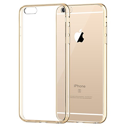 iPhone 6s Case, JETech Apple iPhone 6/6s Case Shock-Absorption Bumper and Anti-Scratch Clear Back for iPhone 6s iPhone 6 4.7 Inch (Gold)