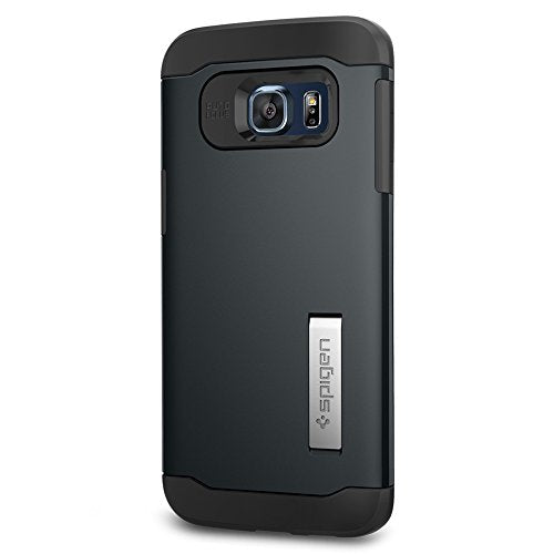 Spigen Slim Armor Galaxy S6 Edge Plus Case with Kickstand and Air Cushion Technology and Hybrid Drop Protection for Galaxy S6 Edge Plus 2015 - Metal Slate
