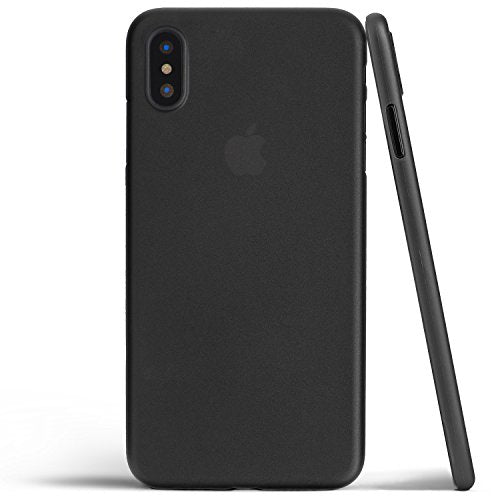 totallee iPhone X Case, Thinnest Cover Premium Ultra Thin Light Slim Minimal Anti-Scratch Protective - For Apple iPhone X (Matte Black)