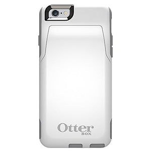 OtterBox COMMUTER WALLET iPhone 6/6s Case - Retail Packaging - GLACIER (WHITE/GUNMETAL GREY)