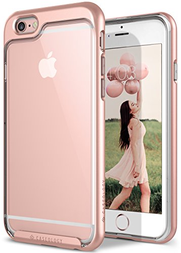 iPhone 6 Case, Caseology [Skyfall Series] Scratch-Resistant Clear Back Cover [Rose Gold] [Shock Absorbent] for Apple iPhone 6 (2014) & iPhone 6S (2015) - Rose Gold