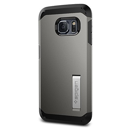Spigen Tough Armor Galaxy S6 Edge Case with Kickstand and Extreme Heavy Duty Protection and Air Cushion Technology for Galaxy S6 Edge 2015 - Gunmetal