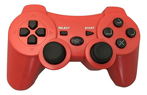 Bek Design Wireless controller for Playstation 3 PS3 (Red)