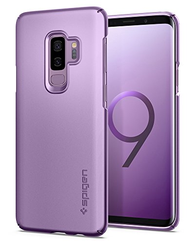 Spigen Thin Fit Galaxy S9 Plus Case with SF Coated Non Slip Matte Surface for Excellent Grip and QNMP Compatible for Galaxy S9 Plus (2018) - Lilac Purple