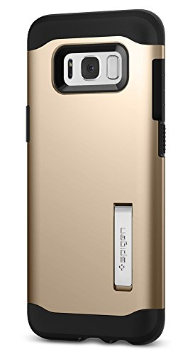 buy popular 9bd3e 5a2af Spigen Slim Armor Galaxy S8 Plus Case with Air Cushion Technology and  Hybrid Drop Protection for Galaxy S8 Plus (2017) - Maple Gold