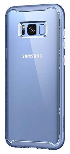 Spigen Neo Hybrid Crystal Galaxy S8 Case with Clear Hard Casing and Reinforced Hard Bumper Frame for Samsung Galaxy S8 (2017) - Coral Blue