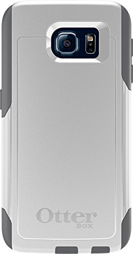 OtterBox COMMUTER SERIES for Samsung Galaxy S6 - Retail Packaging - Glacier (White/Gunmetal Grey)