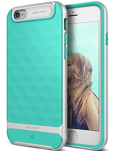 iPhone 6 Case, Caseology [Wavelength DIA] [Parallax Series] Textured Pattern Grip Case [Mint Green] [Shock Proof] for Apple iPhone 6 (2014) - Mint Green