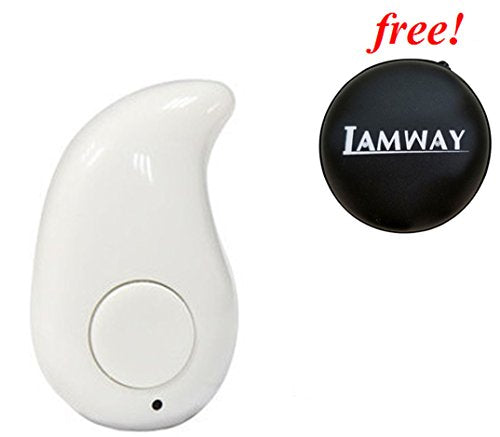 Bluetooth earpiece with best quality, IAMWAY Mini S530Ⅱ Wireless Bluetooth Earbuds Headset Earphones for iPhone Samsung Galaxy and Other Smartphones (White)
